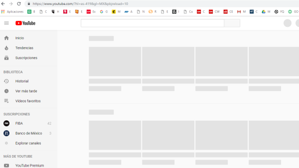 Youtube falla