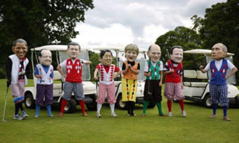 Protestantes realizaron una caricatura del Grupo de los ocho en Irlanda del Norte el año pasado. (Foto: Getty Images)