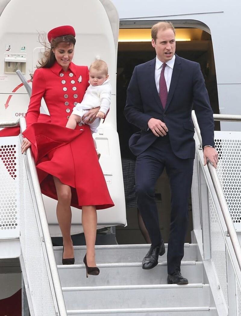 Este es el primer viaje oficial del príncipe George