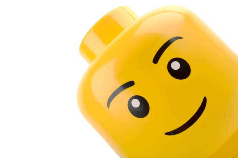 Lego head close up