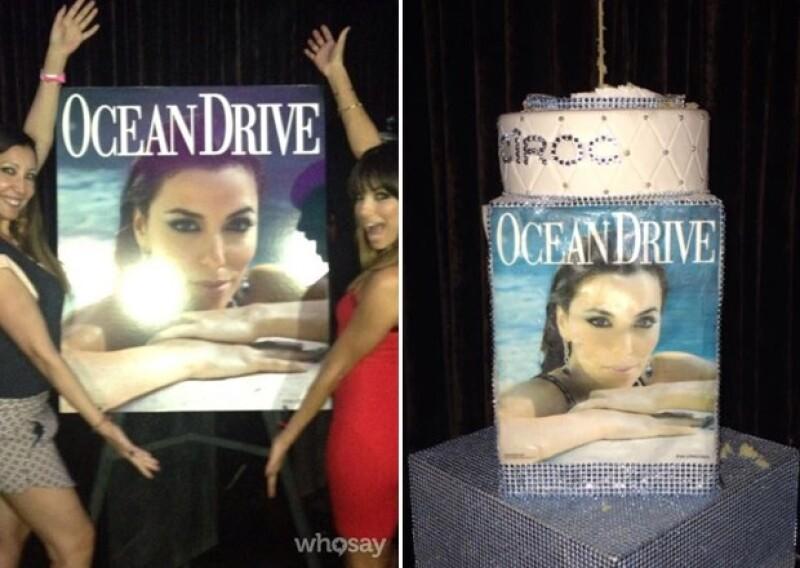 La revista Ocean Drive en la que Eva estrenó portada, no dejó de festejarle su cumpleaños.