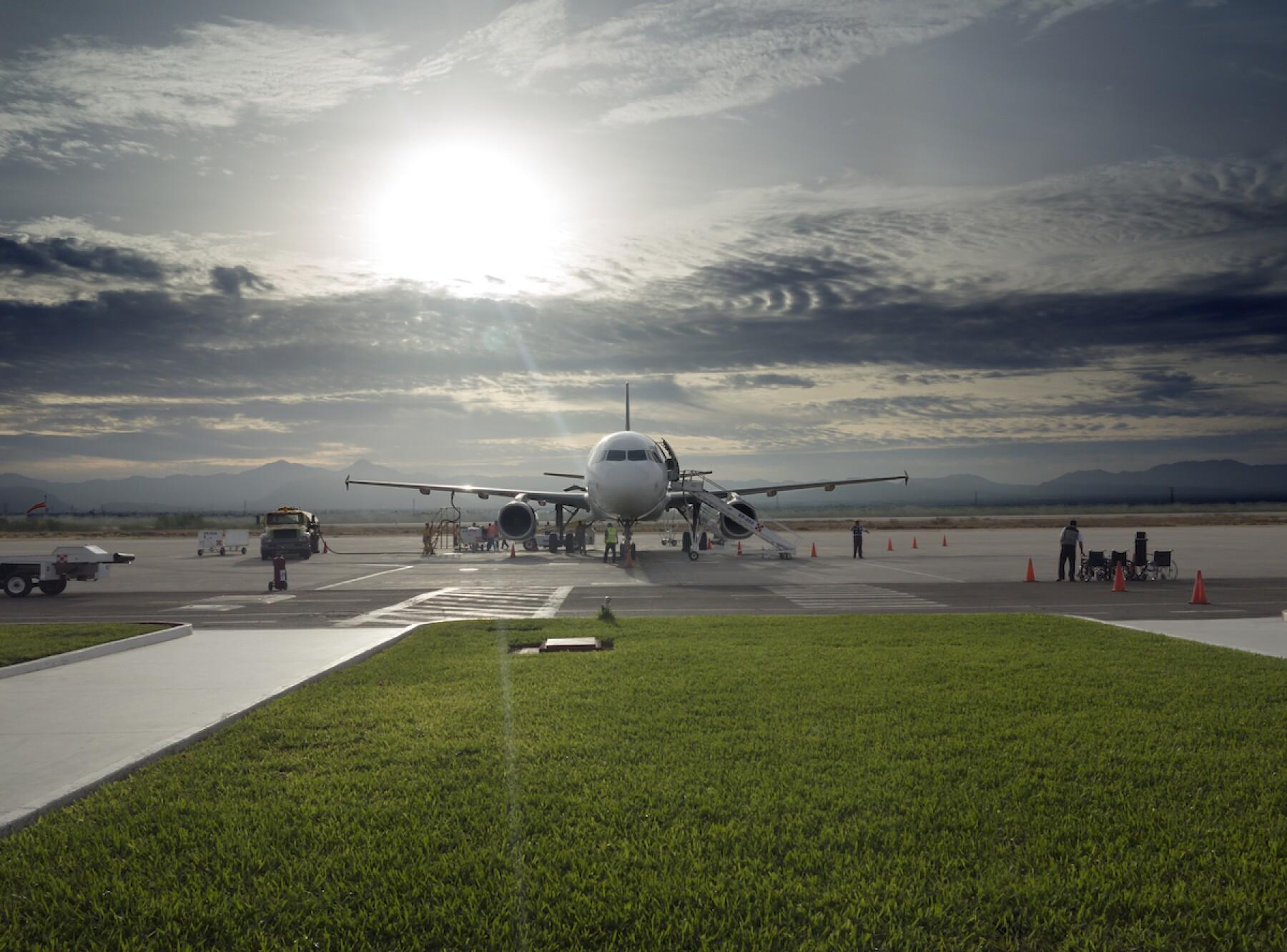Volaris Airplane, La Paz, Mexico,