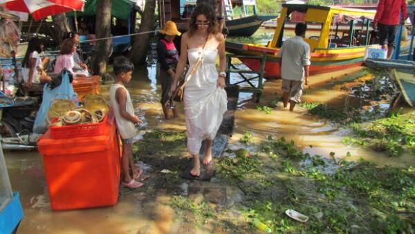 Jacky en un pueblo flotante cerca de Siem Reap en Camboya.