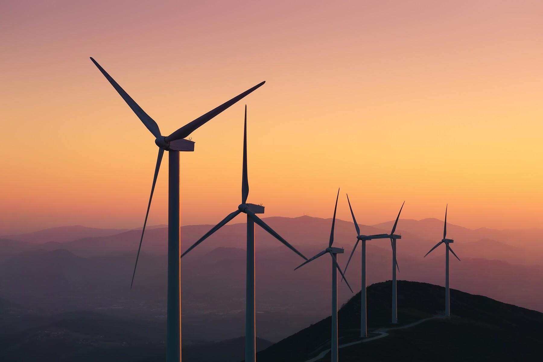 renewable energy with wind turbines