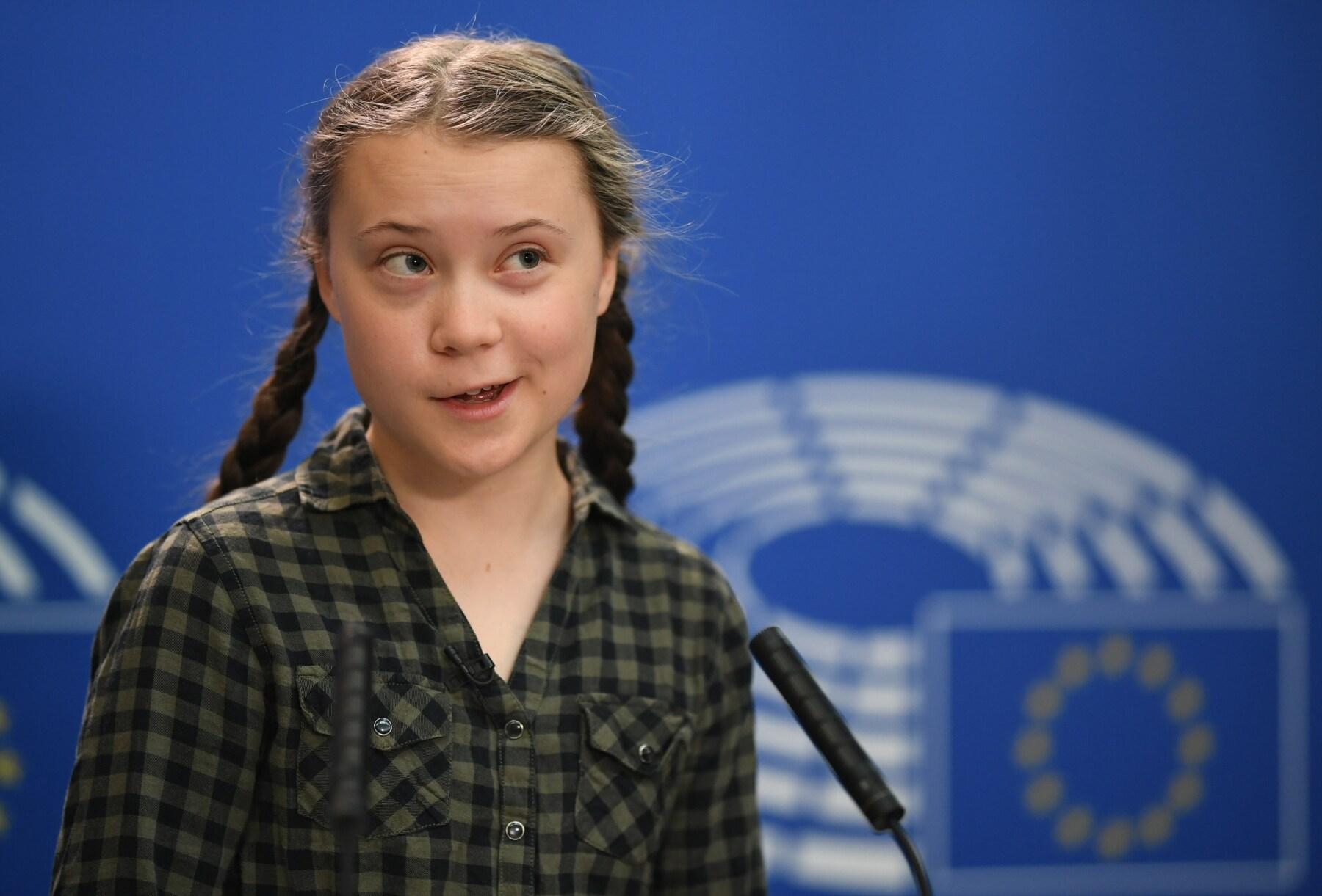 Greta Thunberg en el Parlamento Europeo