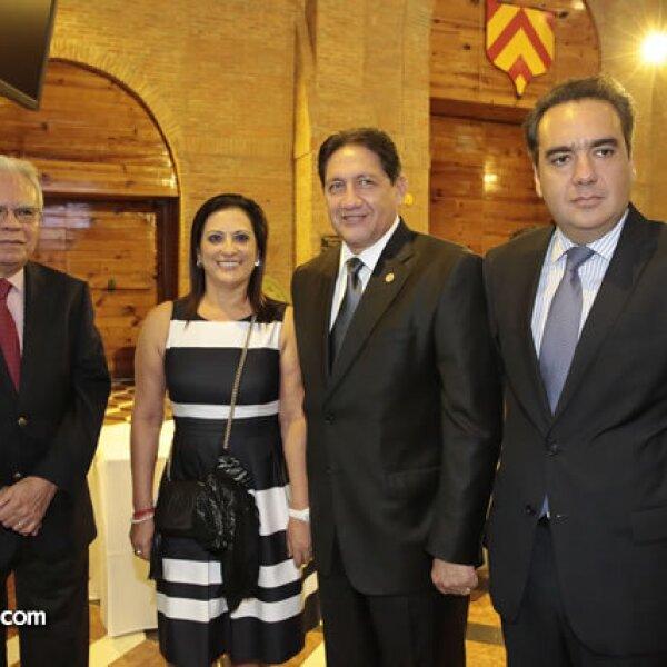 Everardo Sousa,María Eugenia Bermúdez de Montano,Alejandro Montano y Alfredo Sousa