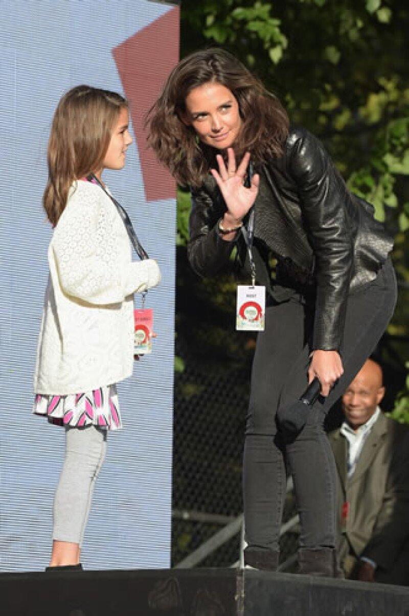 Katie Holmes llevó a Suri al Global Citizen Festival en Nueva York.