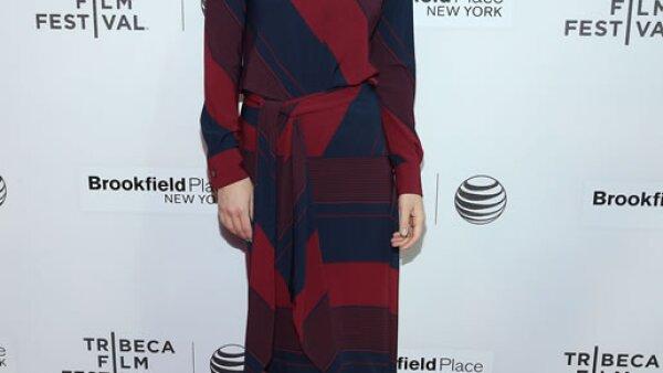 Olivia Wilde llevó un vestido de la colección otoño 2015 de Tory Burch al festival de cine de Tribeca.