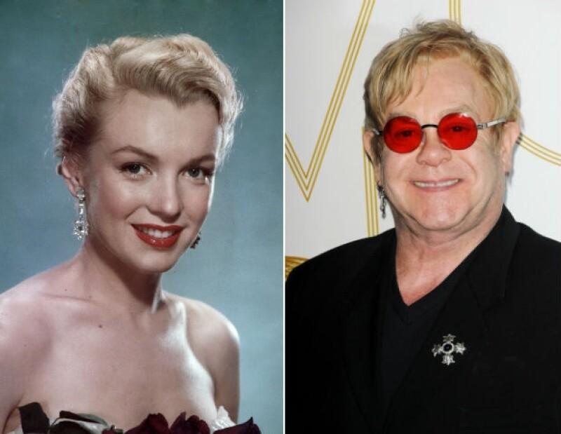 Marilyn Monroe y Sir Elton John.