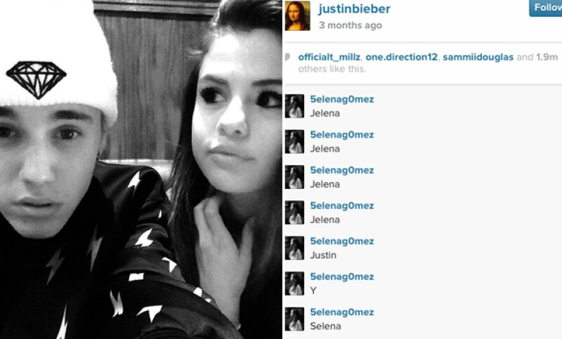 Esta imagen fue publicada en agosto cuando Justin y Selena retomaron su romance, para meses después terminar definitivamente.