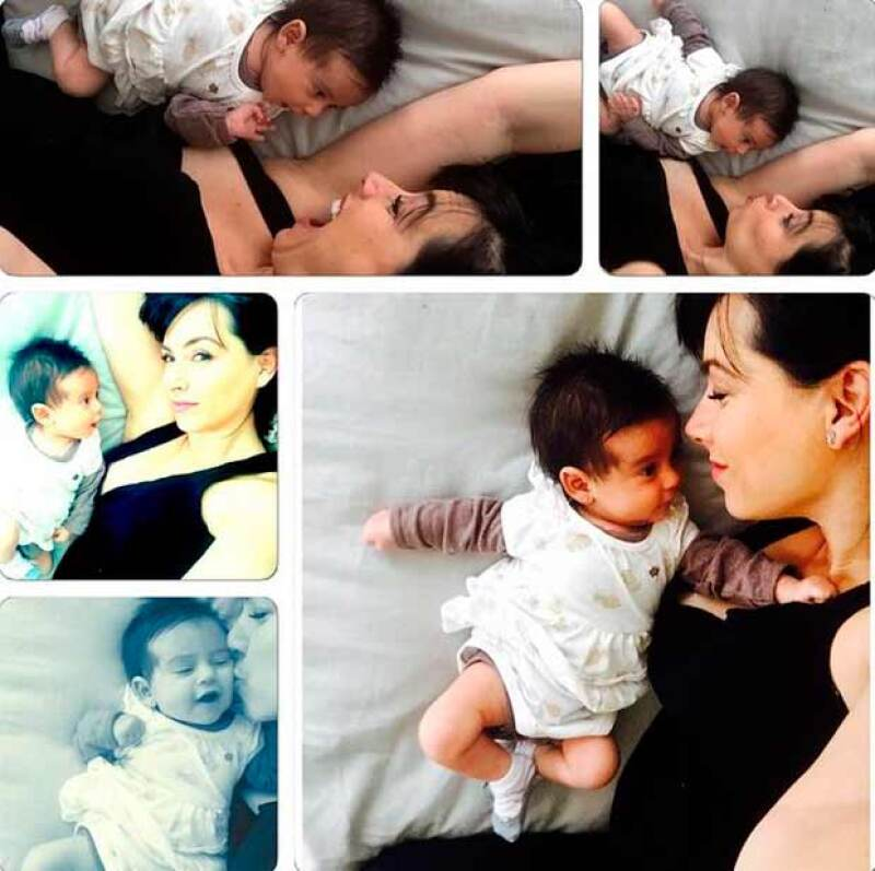 La conductora de televisión presumió fotografías que muestran su amor de mamá y en las que Elah luce sus facciones más definidas. ¿A quién se parece?