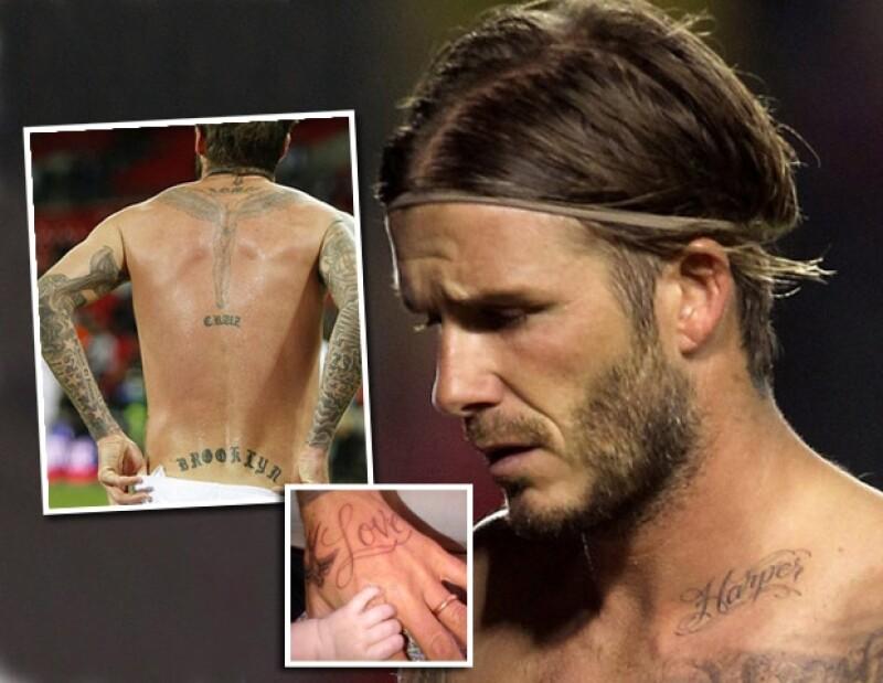 David Beckham se tatuó por sus hijos.