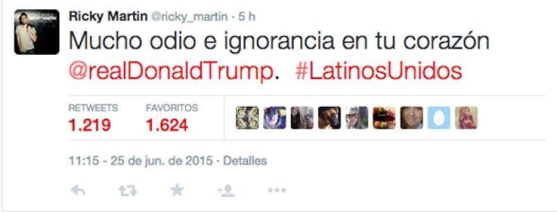 El cantante puertorriqueño criticó fuertemente al empresario estadounidense por sus comentarios sobre los latinos.