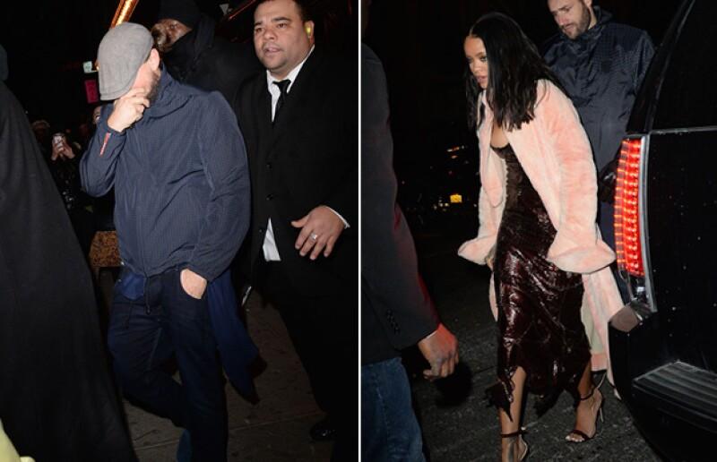 Rihanna y Leonardo fueron captados en febrero saliendo de la misma fiesta en Nueva York.