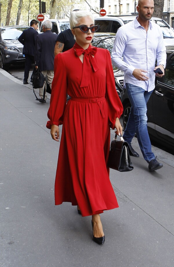 Lady Gaga out and about, Paris, France - 27 Aug 2018