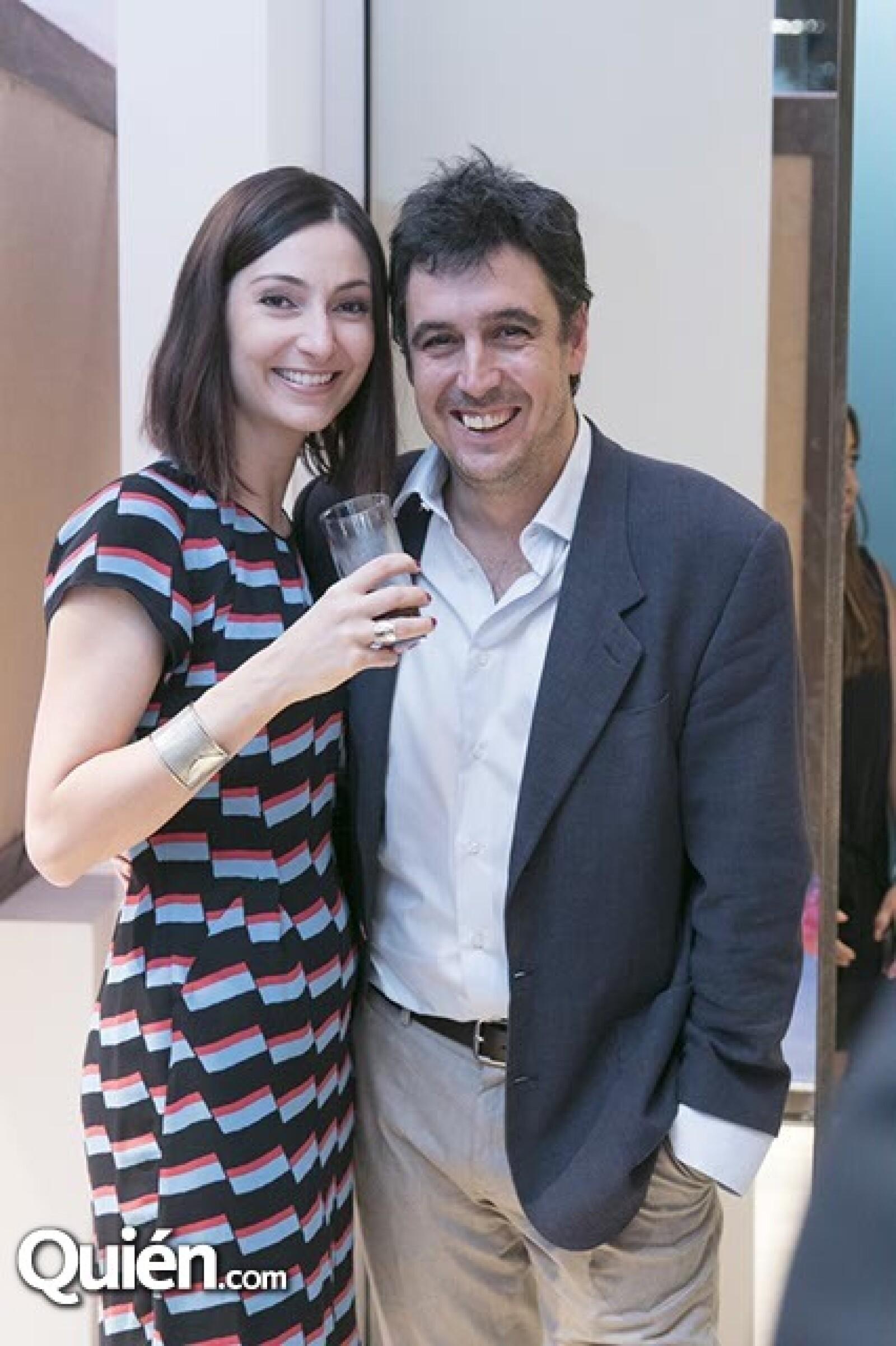 Francesca Blasone y Javier Brandoli