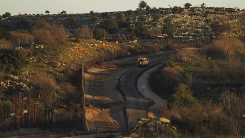 Golan Heights, lugar donde fueron llevado a cabo ataques del ejército de Israel