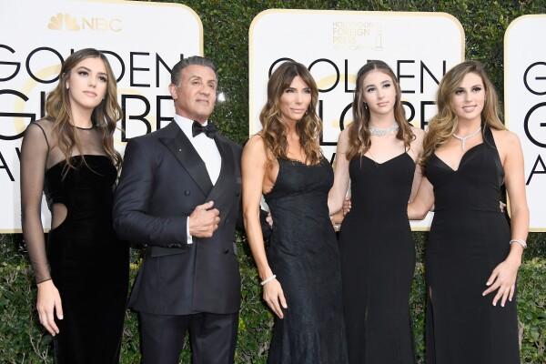 Familia Stallone Golden Globes 2017