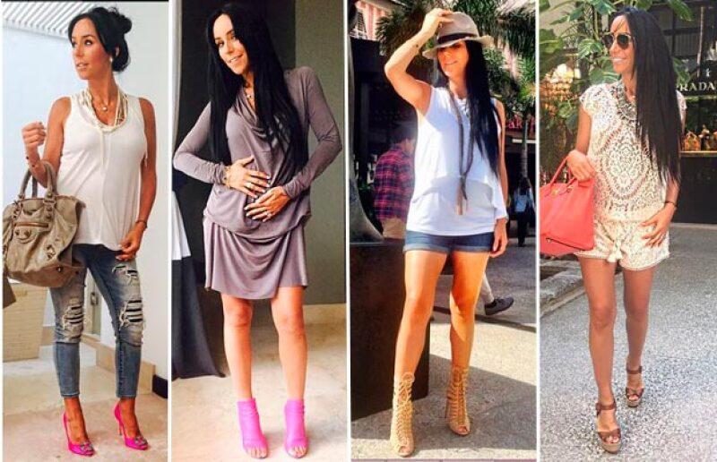 Instagram es la plataforma por la que la guapa ojiazul presume sus mejores looks.