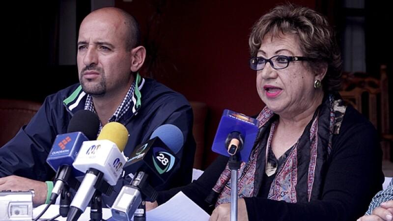 La alcaldesa de Pátzcuaro Salma Karrum Cervantes ofreció una rueda de prensa este lunes para negar que tenga vínculos con criminales