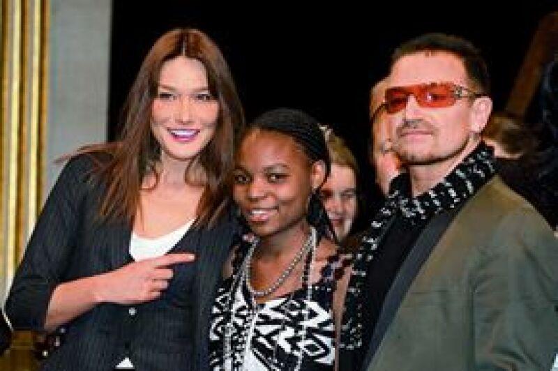 La cantante admira a Bono, de U2, por su humildad y trabajo altruista.