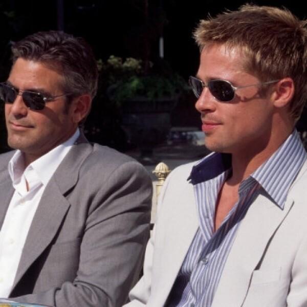 Brad Pitt y George Clooney