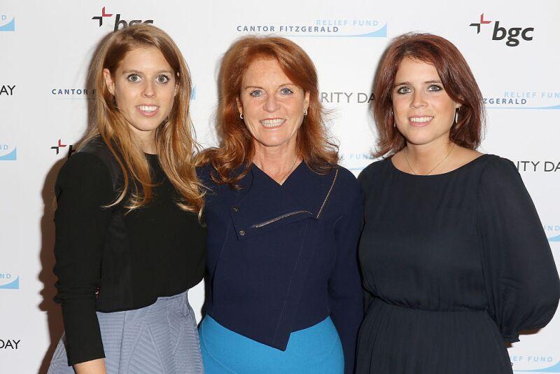 Princesa Beatriz, Sarah Ferguson y la princesa Eugenia