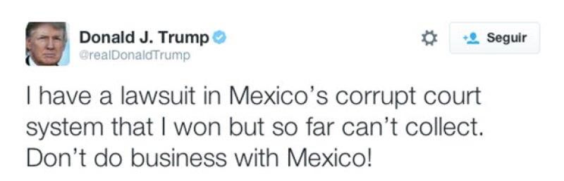 Aseguró que el gobierno mexicano es corrupto.