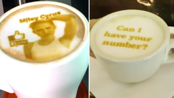 La Ripple Maker está causando sensación en Nueva York al crear todo tipo de divertidas imágenes en tu latte o expresso.