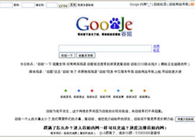 La página china Goojje imita el formato de su rival, Google. (Foto: Especial)