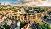 Panoramic Aerial View of Santiago de Queretaro Mexico