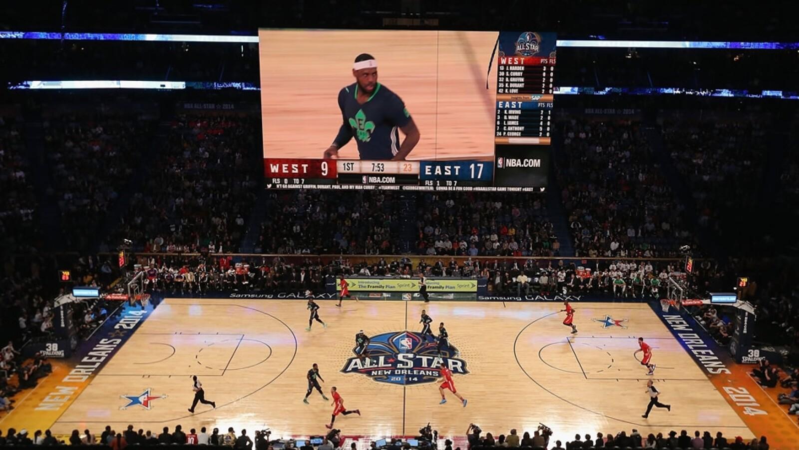 basquetbol, juego de estrellas, jugador, valioso, anotador, encestador, nueva orleans, este, oeste
