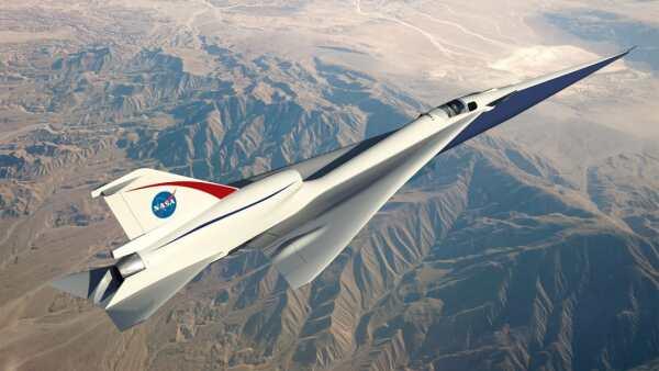diseño de avión sónico de la nasa