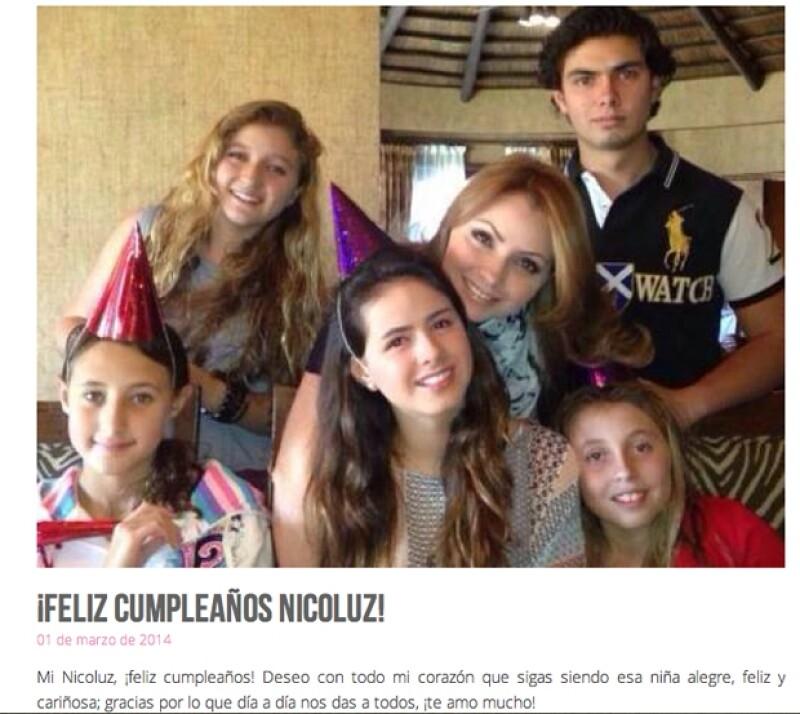 Angélica Rivera, esposa del presidente Enrique Peña Nieto, lanzó  su página de Internet en la que  a decir de ella, compartirá sus actividades  proyectos y algunos momentos especiales con su familia.