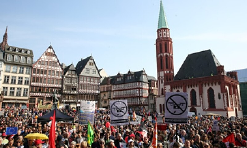 Los organizadores esperaban convocar a 10,000 personas a la protesta. (Foto: Getty Images)