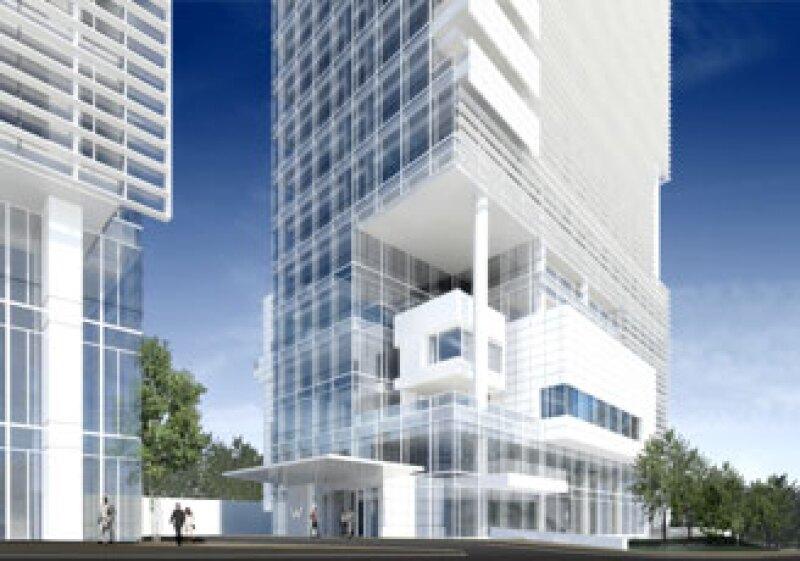 El hotel W Santa Fe será un edificio de usos mixtos conformado por tres torres de 15 pisos. (Foto: Richard Meier & Partners Architects)