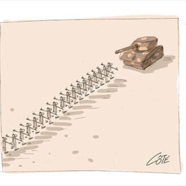 Gadhafi - caricatura - Andre Philippe Cote