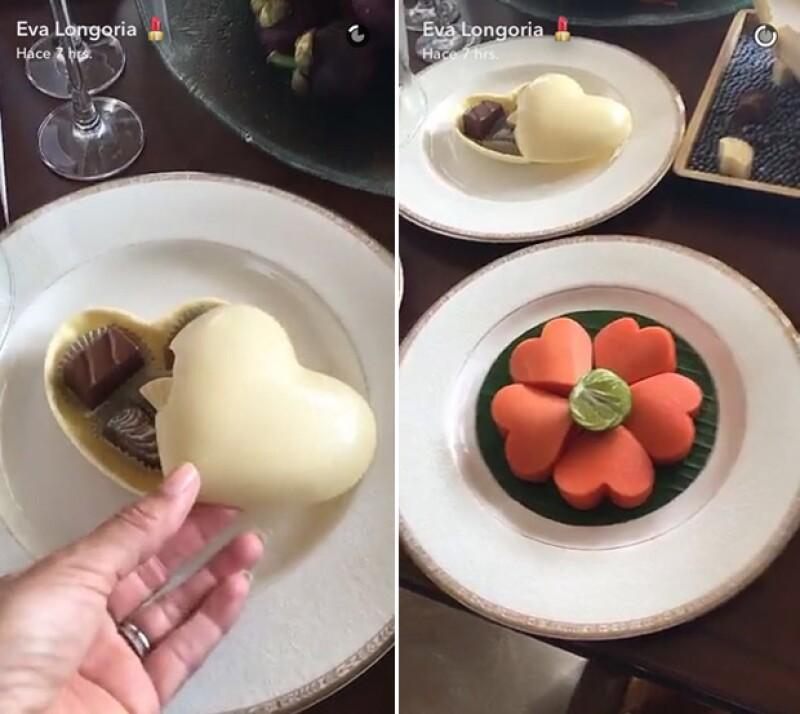 En Bangkok tuvieron un poco de romanticismo en forma de chocolate.