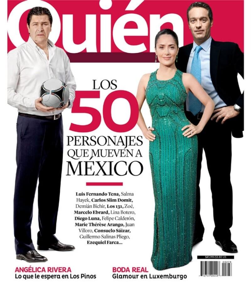 Como cada año la revista Quién reconoce a las 50 personalidades que mueven a México.