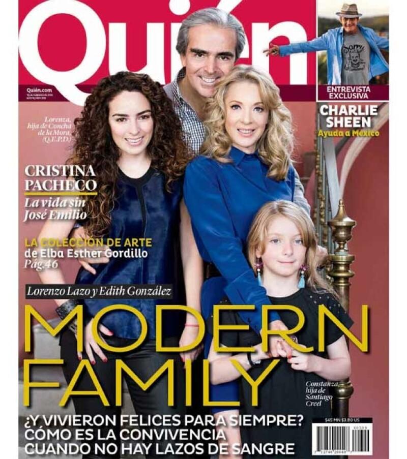 Edith, Lorenzo, Constanza y Lorenza en exclusiva para Quién.