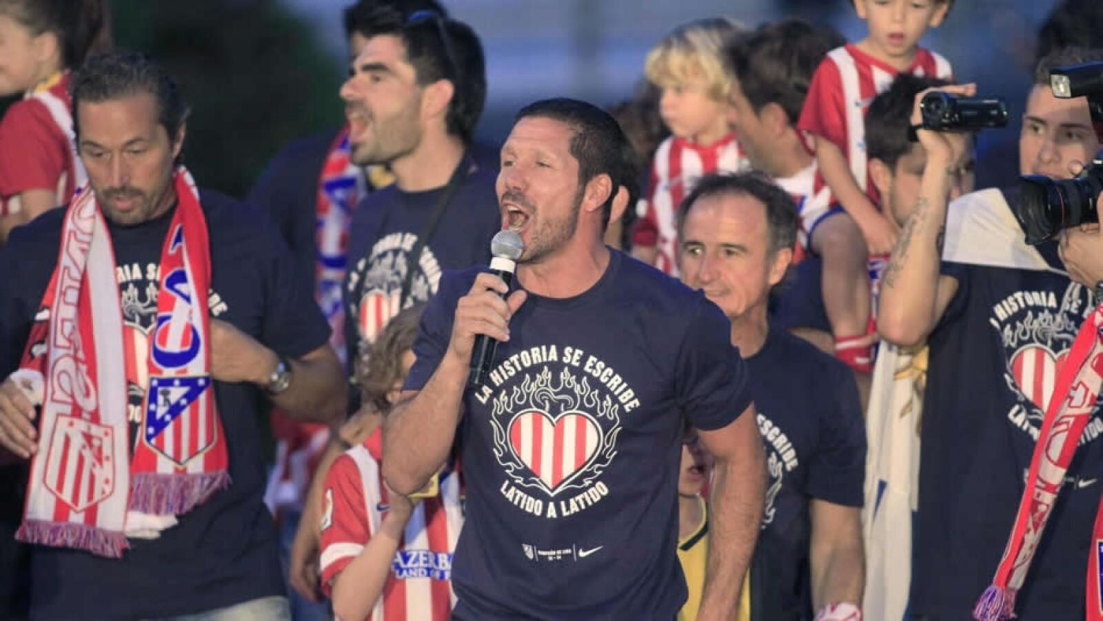 atletico de madrid celebracion futbol simeone