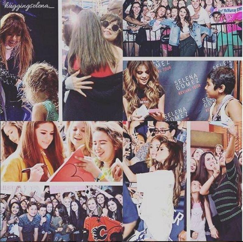 Selena respondió con esta foto en la que agradece el apoyo de sus fans.
