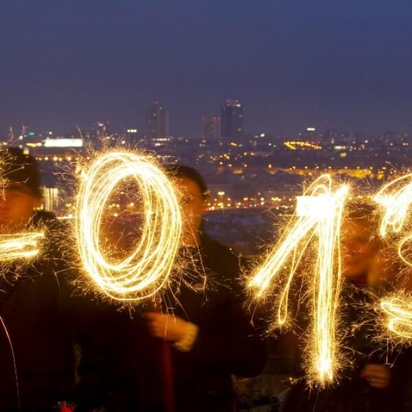 2013 año nuevo luces praga