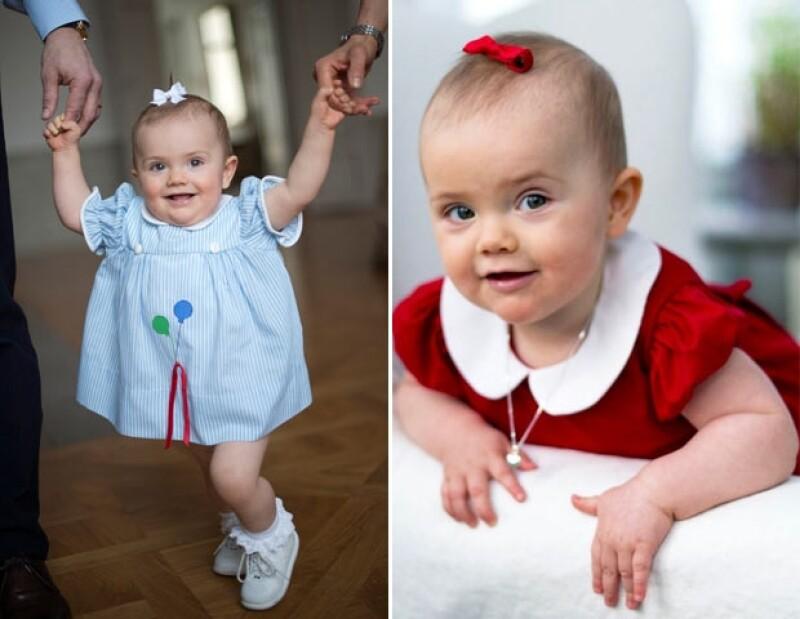 El 23 de febrero, Estelle cumplió un año y sus padres le pusieron el mismo vestido que usó Victoria cuando cumplió edad edad.