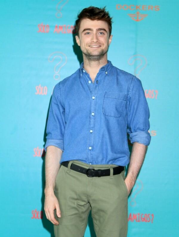 Daniel Radcliffe durante su encuentro con la prensa en México.