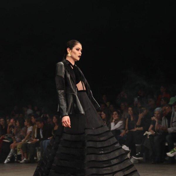 Vero-Diaz-MBFWMx-Runway-Black-Dress