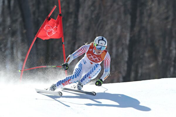 Lindsey Vonn in action