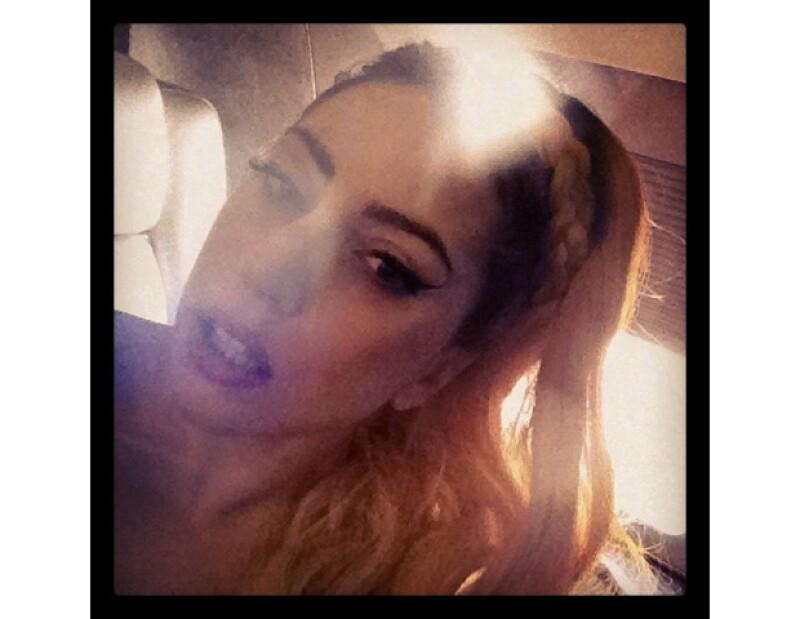 Gaga suele subir fotos alocadas.