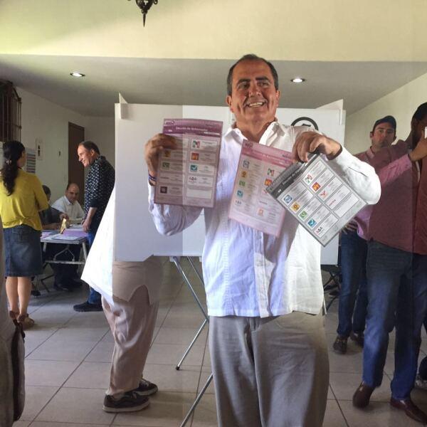 Gabriel Arellano, candidato independiente a la gubernatura de Aguascalientes se dice seguro de ganar la contienda, pero se dijo respetuoso de la decisión que tome la ciudadanía.