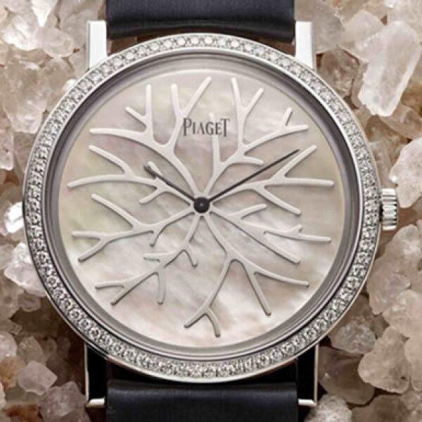 Motivos con diamantes y plata caracterizan a este modelo.